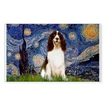 Starry Night / Eng Spring Sticker (Rectangle)