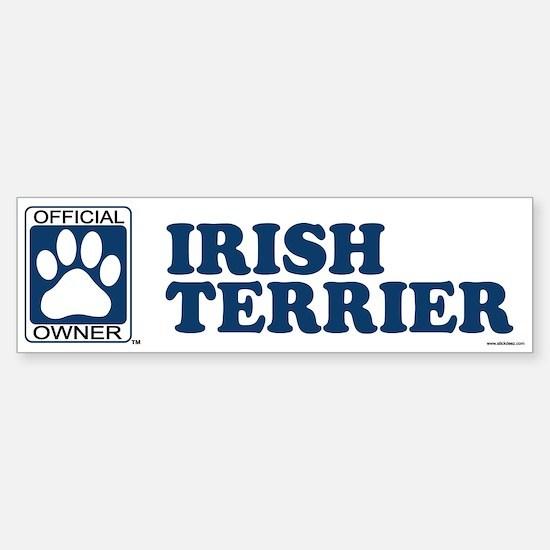 IRISH TERRIER Bumper Bumper Bumper Sticker