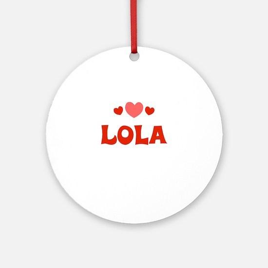 Lola Ornament (Round)