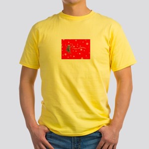 Elf & Reindeer ~ Holiday ~ Yellow T (Two Sides)