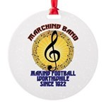 Marching Band: Making Football Round Ornament
