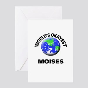 World's Okayest Moises Greeting Cards