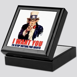 Stop Voting For Idiots Keepsake Box