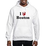 I Love Boston Hooded Sweatshirt