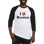 I Love Boston Baseball Jersey