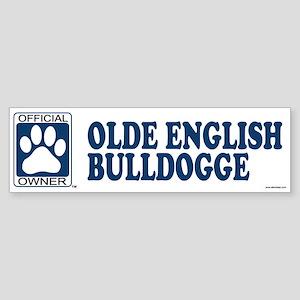 OLDE ENGLISH BULLDOGGE Bumper Sticker