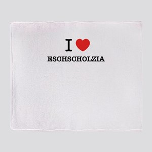 I Love ESCHSCHOLZIA Throw Blanket