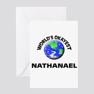 World's Okayest Nathanael Greeting Cards