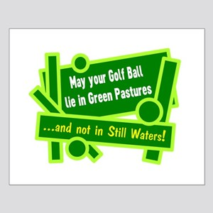 Golf Ball In Green Pastures Posters