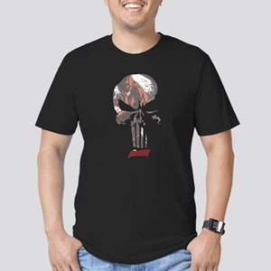 The Punisher Skull Dar Men's Fitted T-Shirt (dark)
