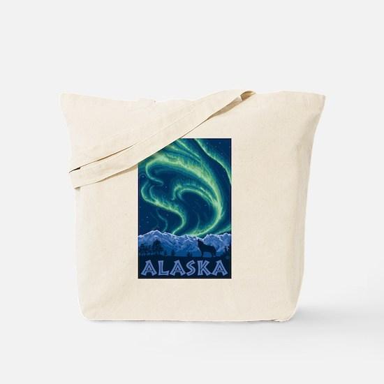 Alaska - Northern Lights Tote Bag