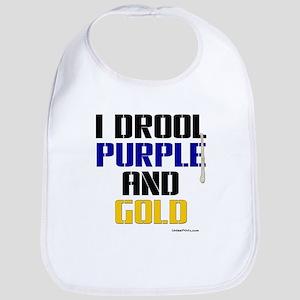 PURPLE AND GOLD (Bal) Bib
