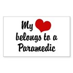 My Heart Belongs to a Paramedic Sticker (Rectangul