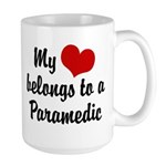My Heart Belongs to a Paramedic Large Mug