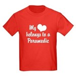 My Heart Belongs to a Paramedic Kids Dark T-Shirt