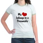 My Heart Belongs to a Paramedic Jr. Ringer T-Shirt