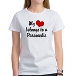 My Heart Belongs to a Paramedic Women's T-Shirt