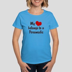 My Heart Belongs to a Paramedic Women's Dark T-Shi