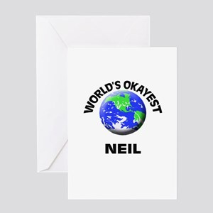 World's Okayest Neil Greeting Cards