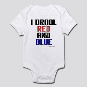 RED AND BLUE (Buff) Infant Bodysuit