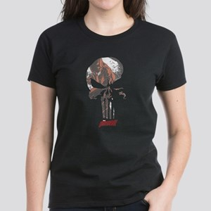The Punisher Skull Daredevil Women's Dark T-Shirt
