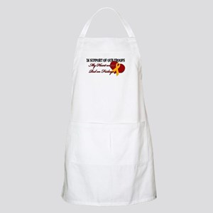 My Heart Wears Red on Fridays BBQ Apron