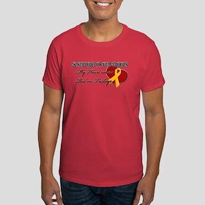 My Heart Wears Red on Fridays Dark T-Shirt