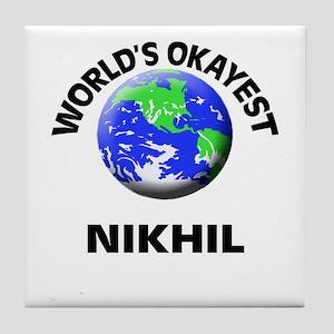 World's Okayest Nikhil Tile Coaster