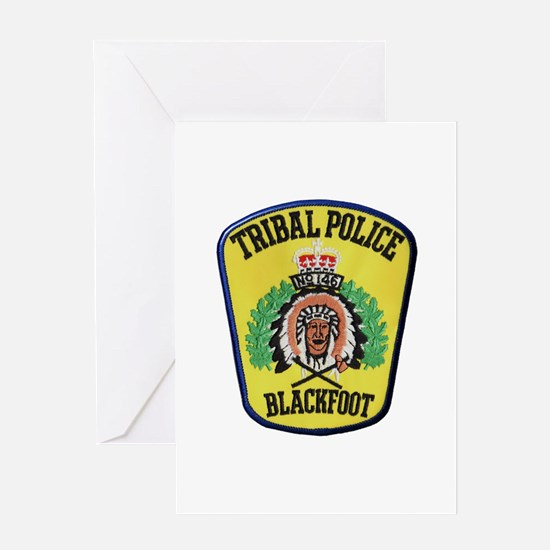 Tribal Police Blackfoot Greeting Cards