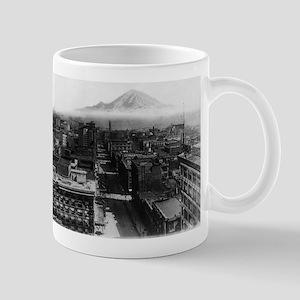 Seattle, WA - Mt. Rainier & Downtown Mugs