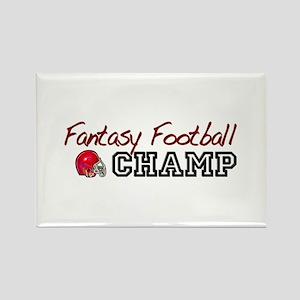 Fantasy Football Champ Rectangle Magnet