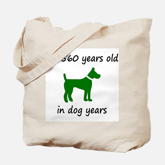 80 Dog Years Green Dog 1C Tote Bag