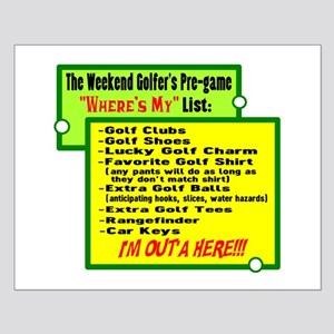 Golfer's List Posters