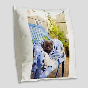Spring Nap Burlap Throw Pillow