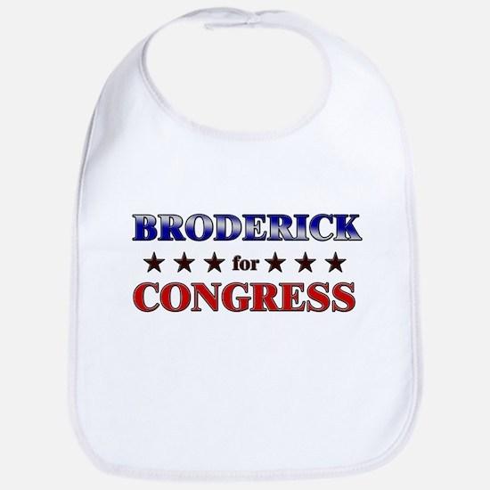 BRODERICK for congress Bib
