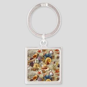 Seashells And Starfish Keychains
