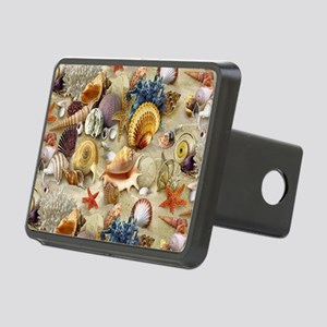 Seashells And Starfish Rectangular Hitch Cover