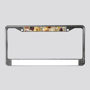 Seashells And Starfish License Plate Frame