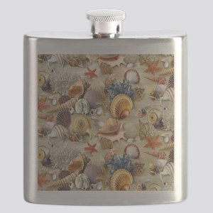 Seashells And Starfish Flask