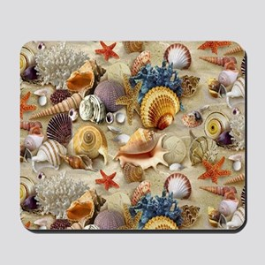 Seashells And Starfish Mousepad