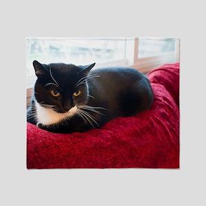 Tuxedo Cat Throw Blanket