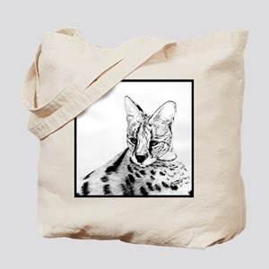 Serval reclined Tote Bag