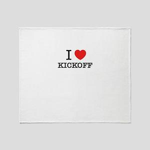 I Love KICKOFF Throw Blanket