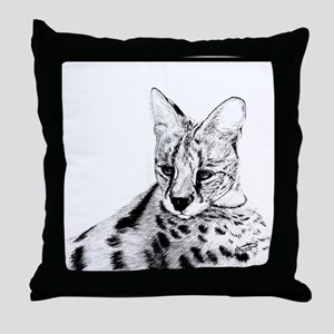 Serval reclined Throw Pillow
