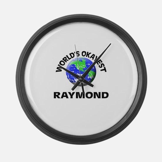 World's Okayest Raymond Large Wall Clock