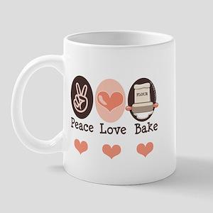 Peace Love Bake Bakers Baking Mug