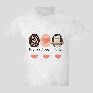 Peace Love Bake Bakers Baking Kids Light T-Shirt