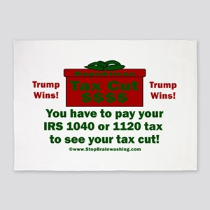 Trump Tax Cut 5'x7'Area Rug