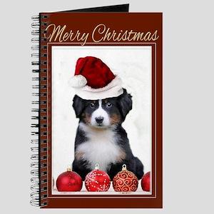 Christmas Bernese Mountain Dog Journal