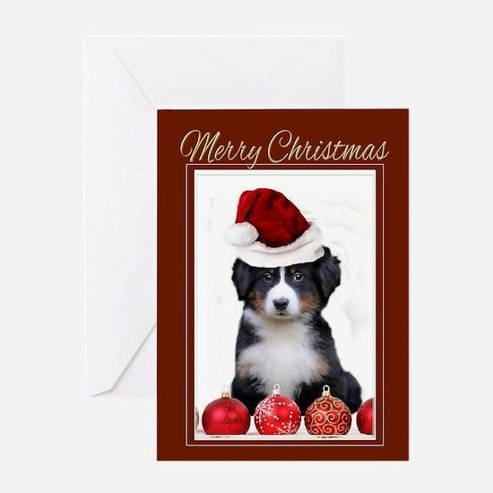 Christmas Bernese Mountain Dog Greeting Cards